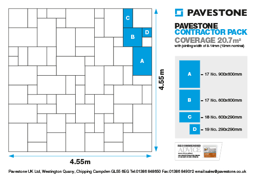 Pavestone Contractor Pack 20.7m2 Laying Pattern