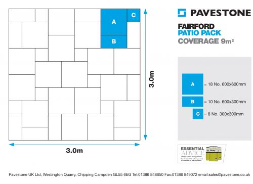 Pavestone Fairford Contractor Pack 9.0m2 Laying Pattern