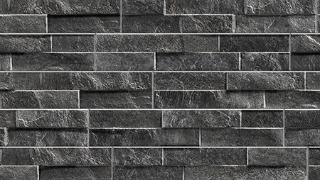 Pavestone Black Rock Stack Porcelain Wall Cladding