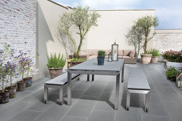 Garden pavestone natural paving stone for gardens and for Jardin moderne epure