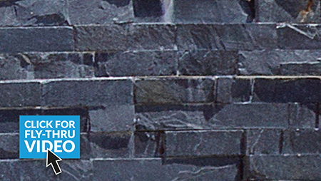 Pavestone Slate Stack Midnight Wall Cladding