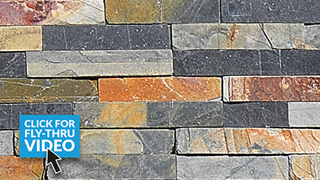 Pavestone Slate Stack Rusty Wall Cladding