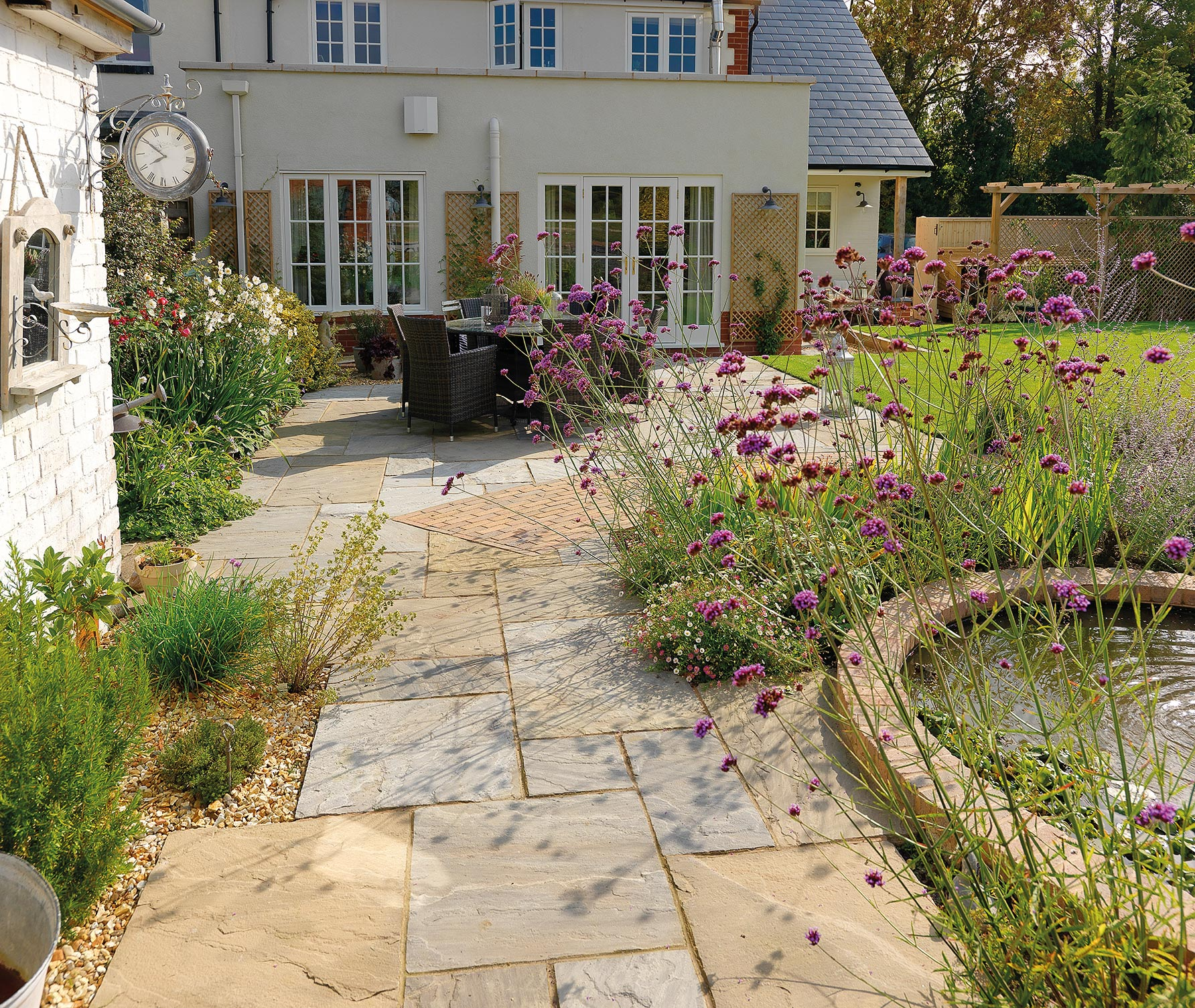 Garden Landscaping Pavestone Natural Paving Stone for gardens
