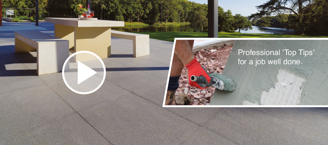 Top tips on laying a porcelain tile garden patio with Mark Brown, Pavestone's expert garden landscaper