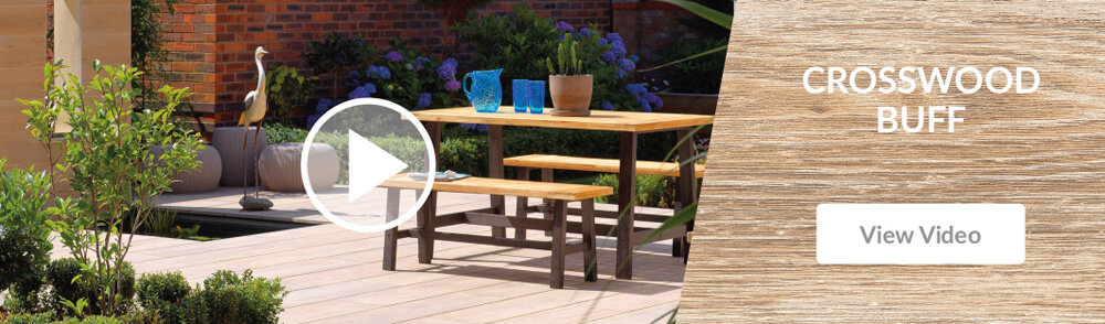 Pavestone Crosswood Buff Porcelain Patio Paving Video