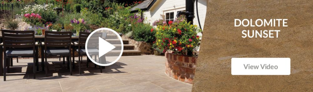 Pavestone Dolomite Sunset Porcelain Patio Paving