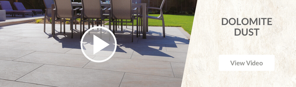 Pavestone Dolomite Dust Porcelain Patio Paving Video