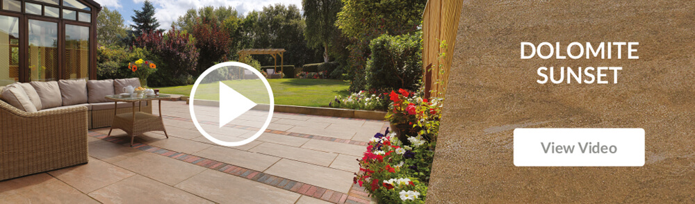 Pavestone Dolomite Sunset Porcelain Patio Paving Video
