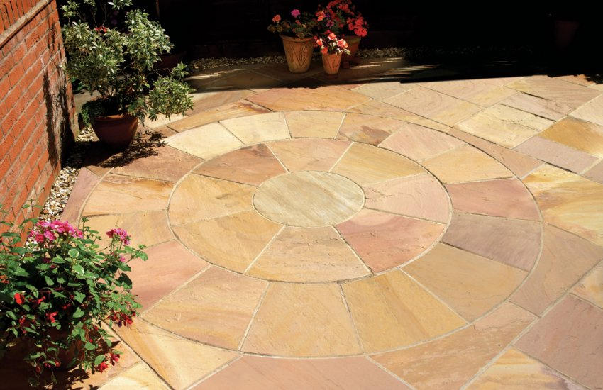 Garden Stone Circles Garden pavestone natural paving stone for gardens and driveways image for golden fossil workwithnaturefo