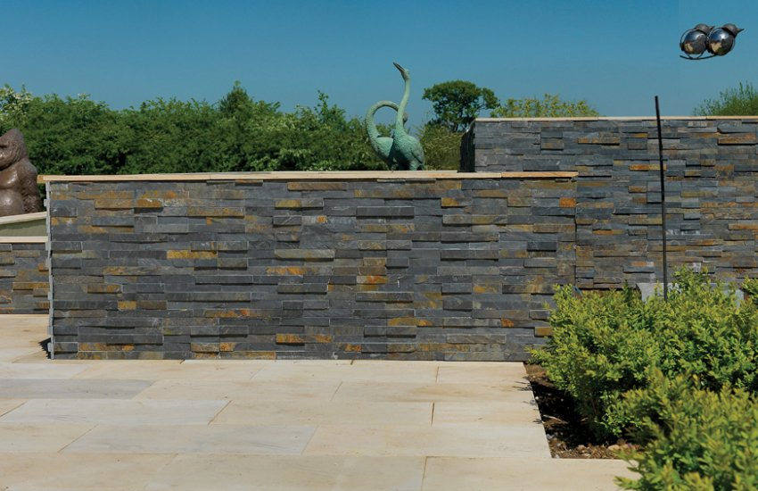 Image for Slate Stack Cladding Blue Black & Rusty