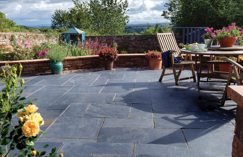 Slate Patio Slabs >> Slate Pavestone Natural Paving Stone For Gardens And
