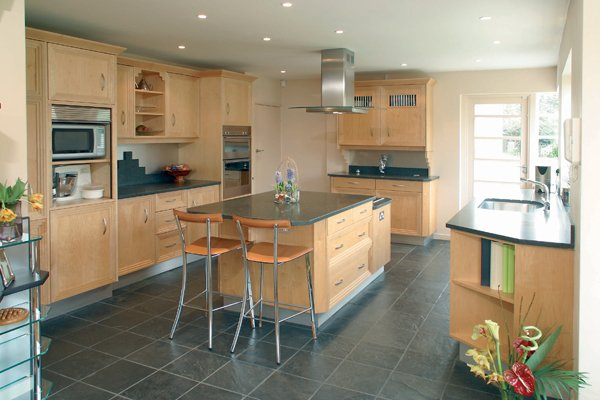 Pavestone has selected Slate flooring to complement the ambience of